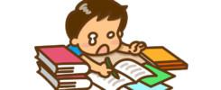 宿題が終わらない男の子
